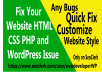I will Fix Your Website HTML CSS PHP and WordPress Issue