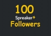 ADD 100+ SPREAKER FOLLOWERS REAL ORGANIC, HIGH QUALITY PROMOTION WITH NON DROP GUARANTEED SUPER