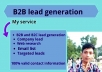 I will be expert in b2b lead generation