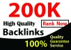 i will do niche relevent 200,000 gsa backlinks for website rank on google with live check