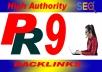 I will provide 30 High-Quality PR~9 SEO Backlinks Service.