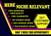 I will create 100 Niche Relevant Blog Comment seo backlin with high quality DA PA in manually