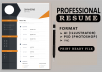 I will create professional cv, resume writing ,cv builder, cv maker
