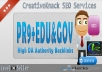 40+ PR9 Backlinks with 20+ .EDU/.GOV Authority Backlinks only