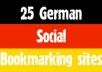 submit manually top 25 GERMAN social bookmarks