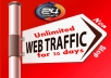 UNLIMITED HUMAN TRAFFIC BY Google ✺ Facebook ✺ Twitter✺Youtube✺Pinterest etc to web site for 30 days