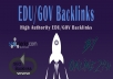 20+ .EDU/.GOV Backlinks From Authority Domains only