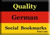 provide 60 German quality backlinks, from german high PR social bookmarking site####