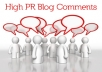 create 3000+ HIGH PR blog comments backlinks unlimited urls and keywords allowed