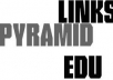 create Wiki Link Pyramid with _9000_ Wiki links as Tier 2 and 500 Wiki backlinks as Tier 1 with U/L keywords and Lindexing for wiki links