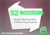 Give You 52 Pr4 Permanent Backlinks From Actual Pagerank