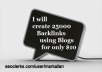 create 25,000 Blog Comments Unlimited Urls and Keywords Allowed