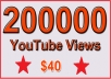 200000 Non Drop YouTube Views for $40