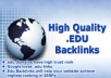 Give you relevant 100 .EDU SEO backlinks