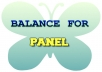 Balance for the panel - fee applies if not affiliate