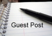I will let you guest post on my PR3 high quality technology blog