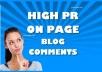 Create 800 Edu Blog comments backlinks for your website