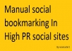 manualy bookmark your links from top 10 Social bookmarking sites