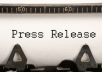 write a Professional Press Release 400 to 450 Words in 24 Hours!!!