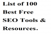 List of 100 Best Free SEO Tools & Resources 2019