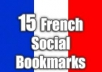 provide 15 French Social Bookmarking services..