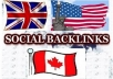 make 24 high pr USA, UK, AUSTRALIA social backlinks,with 10 bonus high pr backlinks Delicious, Digg