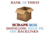 1500+ dofollow, 1500+ high PR and 300 edu gov blog comments backlinks using scrapebox, unlimited url