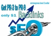 Get PR-3 to PR-9 backlinks for your website url or any type of url