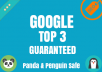 GOOGLE TOP 3 GUARANTEED - January Update 2021
