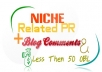 Provide High Quality 25 Niche Related Blog Comment All Niche's Accept