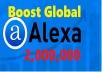 Fast Boost ALEXA GLOBAL Rank Below 2000000