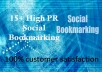 Add your site at 15 different High PR social bookmarking site
