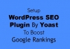 I can install Yoast wordpress Seo plugin and optimize your onpage SEO