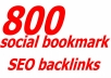 Best Improvement with high quality 800 SEO optimized Social Bookmark Backlinks