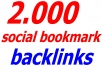 50% OFF ONLY TODAY-I will create 2000 social bookmark backlinks for your whole site