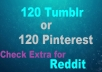 120 Tumblr Seo Siganls Powerful  Social Bookmark Backlinks Signals for Google rankling