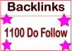 I will Do HQ 1100 Do Follow Backlinks