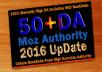 do 50 backlinks High DA 50 Plus Permanent, DoFollow, Seo Service