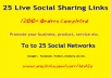 Instant 25 Live Social Bookmarking Links within 24 hours