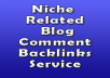 Build 100 Niche related links on less than 50 OBLs pages