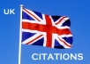 I will create 41 high pr local citations for UK based Business