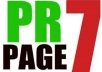 Provide 5xPR7 and 2xpr6 Real Dofollow Links