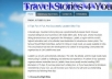 I will write and publish your Travel Guest post on my blog