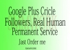 Get 100+ real human permanent worldwide Google Plus Circle Follow Only