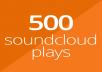 500 SoundCloud plays
