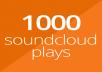 1000 SoundCloud plays