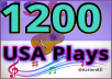 Mini Offer  1200 Safe USA Plays and 20 Likes-Repost, 7 Comments