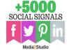 PR9 5000 Real SEO Social Signals Including Googleplus ones P interest Signals social Bookmark