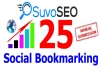 I will submit your site or blog MANUALLY to 25 Social Bookmarking sites PR8 to PR2