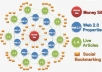 I will 100 PR10 Blog Posts LlNKWHEEL 15,000 GSA Pyramid Links Google Safe Edu